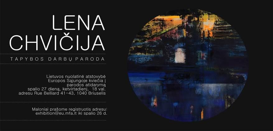 LENOS CHVIČIJOS tapybos darbų paroda @ Lietuvos nuolatinė atstovybė ES