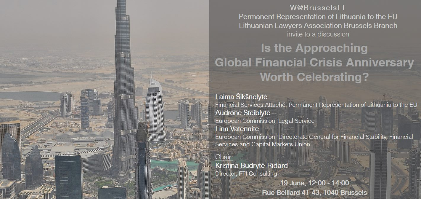 """Diskusija """"Pasaulinės finansų krizės jubiliejui artėjant – ar verta švęsti?"""""""