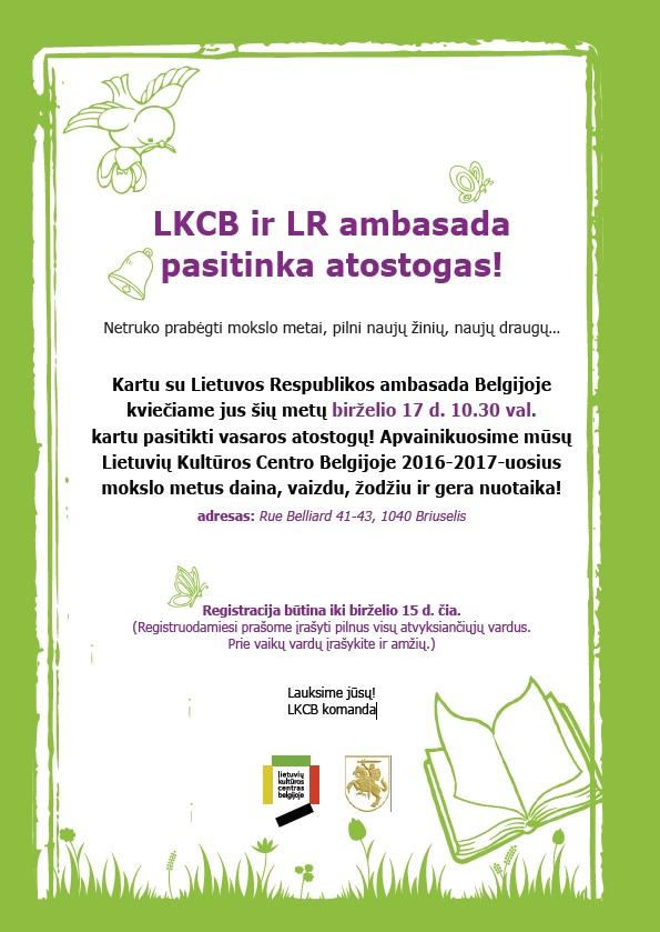 LKCB ir LR ambasada pasitinka atostogas!