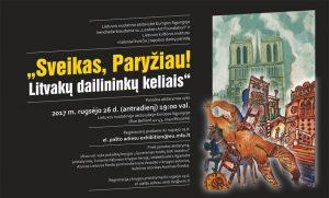 """Tapybos darbų parodos atidarymas """"Sveikas, Paryžiau! Litvakų dailininkų kelias"""""""